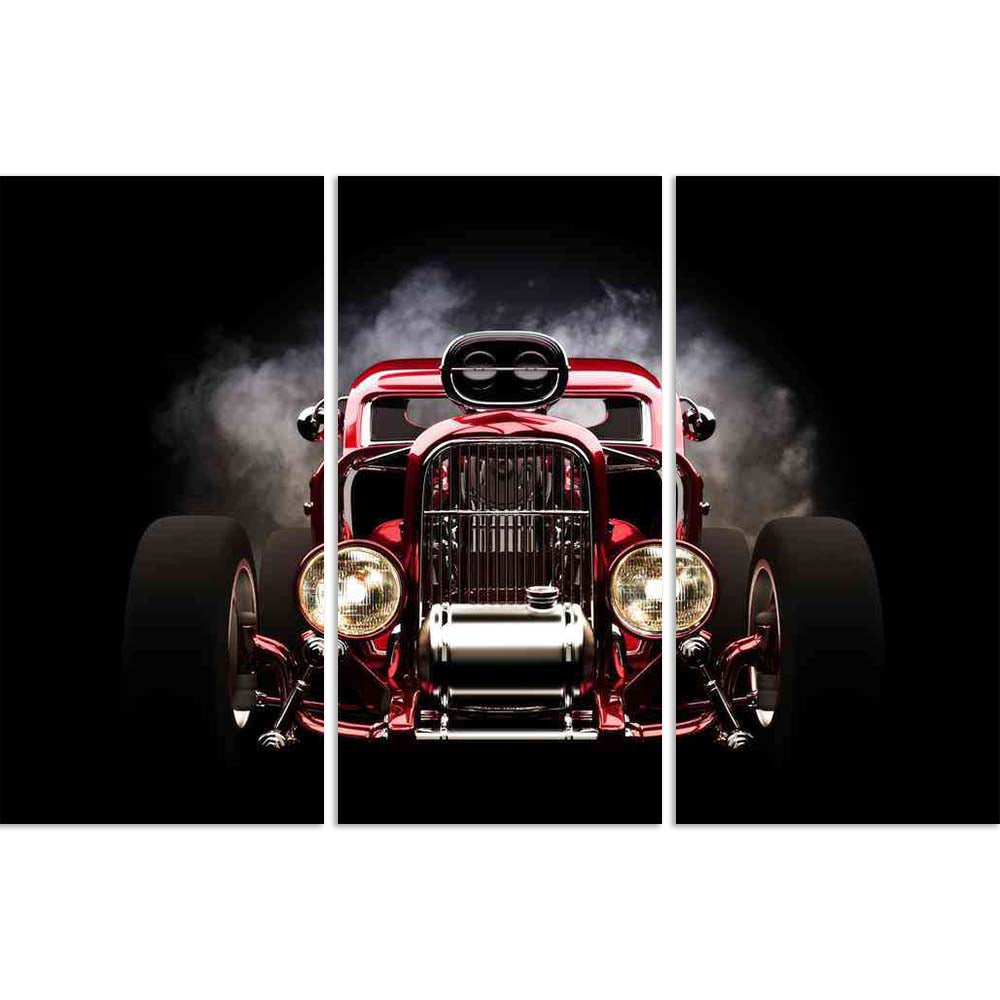 ArtzFolio Hotrod With Smoke Background Split Art Painting Panel on Sunboard-Split Art Panels-AZ5005953SPL_FR_RF_R-0-Image Code 5005953 Vishnu Image Folio Pvt Ltd, IC 5005953, ArtzFolio, Split Art Panels, Automobiles, Vintage, Photography, hotrod, with, smoke, background, split, art, painting, panel, on, sunboard, framed, canvas, print, wall, for, living, room, frame, poster, pitaara, box, large, size, drawing, big, office, reception, of, kids, designer, decorative, amazonbasics, reprint, small, bedroom, sce