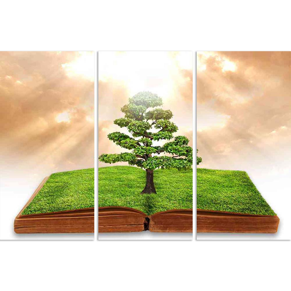 ArtzFolio Big Tree Growth From A Book With Beautiful Sky Split Art Painting Panel on Sunboard-Split Art Panels-AZ5005981SPL_FR_RF_R-0-Image Code 5005981 Vishnu Image Folio Pvt Ltd, IC 5005981, ArtzFolio, Split Art Panels, Conceptual, Landscapes, Digital Art, big, tree, growth, from, a, book, with, beautiful, sky, split, art, painting, panel, on, sunboard, framed, canvas, print, wall, for, living, room, frame, poster, pitaara, box, large, size, drawing, office, reception, photography, of, kids, designer, dec