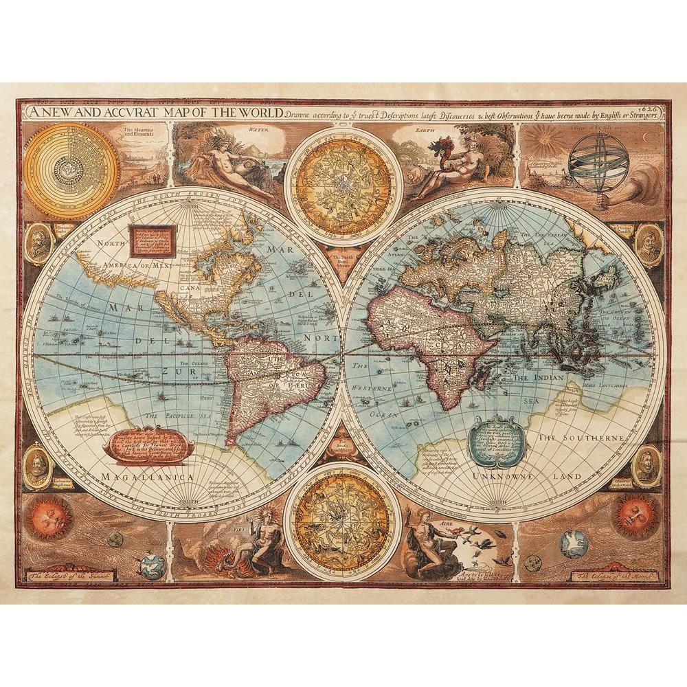 ArtzFolio Image of an Old Map 1626 of the World Peel & Stick Vinyl Wall Sticker-Laminated Wall Stickers-AZ5005991ART_UN_RF_R-0-Image Code 5005991 Vishnu Image Folio Pvt Ltd, IC 5005991, ArtzFolio, Laminated Wall Stickers, Places, Vintage, Photography, image, of, an, old, map, 1626, the, world, peel, stick, vinyl, wall, sticker, for, bedroom, large, size, decal, drawing, room, living, decorative, big, waterproof, home, office, reception, pitaara, box, designer, prints, kids, pvc, amazonbasics, washable, abst