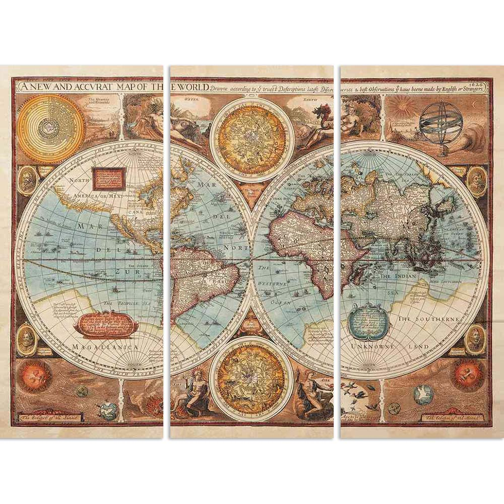 ArtzFolio Image of an Old Map 1626 of the World Split Art Painting Panel on Sunboard-Split Art Panels-AZ5005991SPL_FR_RF_R-0-Image Code 5005991 Vishnu Image Folio Pvt Ltd, IC 5005991, ArtzFolio, Split Art Panels, Places, Vintage, Photography, image, of, an, old, map, 1626, the, world, split, art, painting, panel, on, sunboard, framed, canvas, print, wall, for, living, room, with, frame, poster, pitaara, box, large, size, drawing, big, office, reception, kids, designer, decorative, amazonbasics, reprint, sma