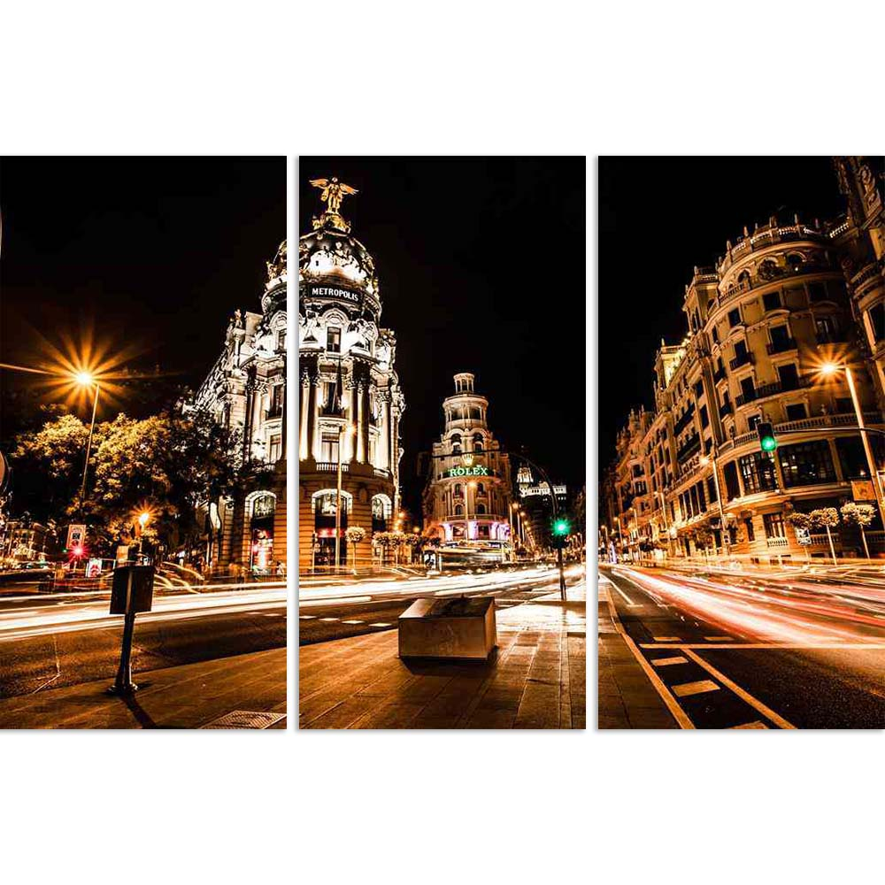 ArtzFolio Street Traffic In Night Madrid, Spain Split Art Painting Panel on Sunboard-Split Art Panels-AZ5005996SPL_FR_RF_R-0-Image Code 5005996 Vishnu Image Folio Pvt Ltd, IC 5005996, ArtzFolio, Split Art Panels, Places, Photography, street, traffic, in, night, madrid, spain, split, art, painting, panel, on, sunboard, framed, canvas, print, wall, for, living, room, with, frame, poster, pitaara, box, large, size, drawing, big, office, reception, of, kids, designer, decorative, amazonbasics, reprint, small, b