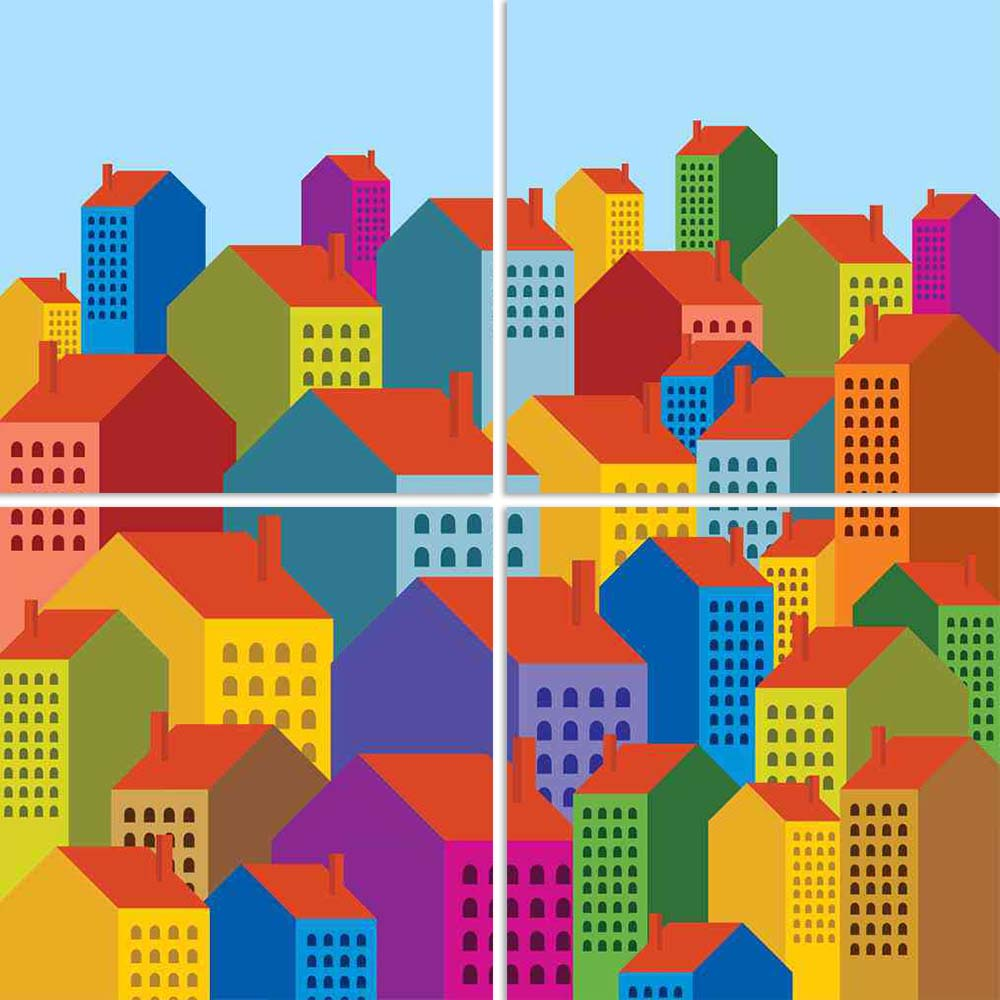 ArtzFolio Colorful City Skyline D2 Split Art Painting Panel on Sunboard-Split Art Panels-AZ5006000SPL_FR_RF_R-0-Image Code 5006000 Vishnu Image Folio Pvt Ltd, IC 5006000, ArtzFolio, Split Art Panels, Kids, Places, Digital Art, colorful, city, skyline, d2, split, art, painting, panel, on, sunboard, framed, canvas, print, wall, for, living, room, with, frame, poster, pitaara, box, large, size, drawing, big, office, reception, photography, of, designer, decorative, amazonbasics, reprint, small, bedroom, scener