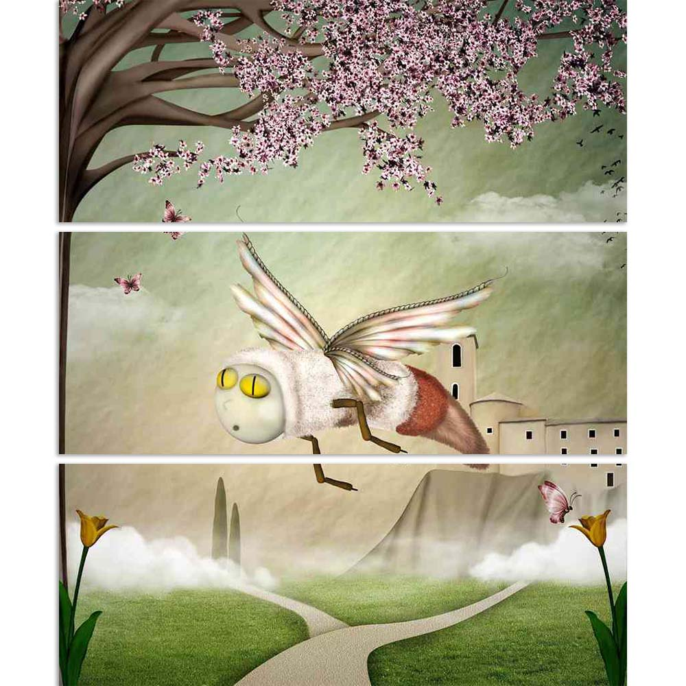 ArtzFolio Fantasy Bee In A Spring Scenery Split Art Painting Panel on Sunboard-Split Art Panels-AZ5006005SPL_FR_RF_R-0-Image Code 5006005 Vishnu Image Folio Pvt Ltd, IC 5006005, ArtzFolio, Split Art Panels, Conceptual, Kids, Digital Art, fantasy, bee, in, a, spring, scenery, split, art, painting, panel, on, sunboard, framed, canvas, print, wall, for, living, room, with, frame, poster, pitaara, box, large, size, drawing, big, office, reception, photography, of, designer, decorative, amazonbasics, reprint, sm