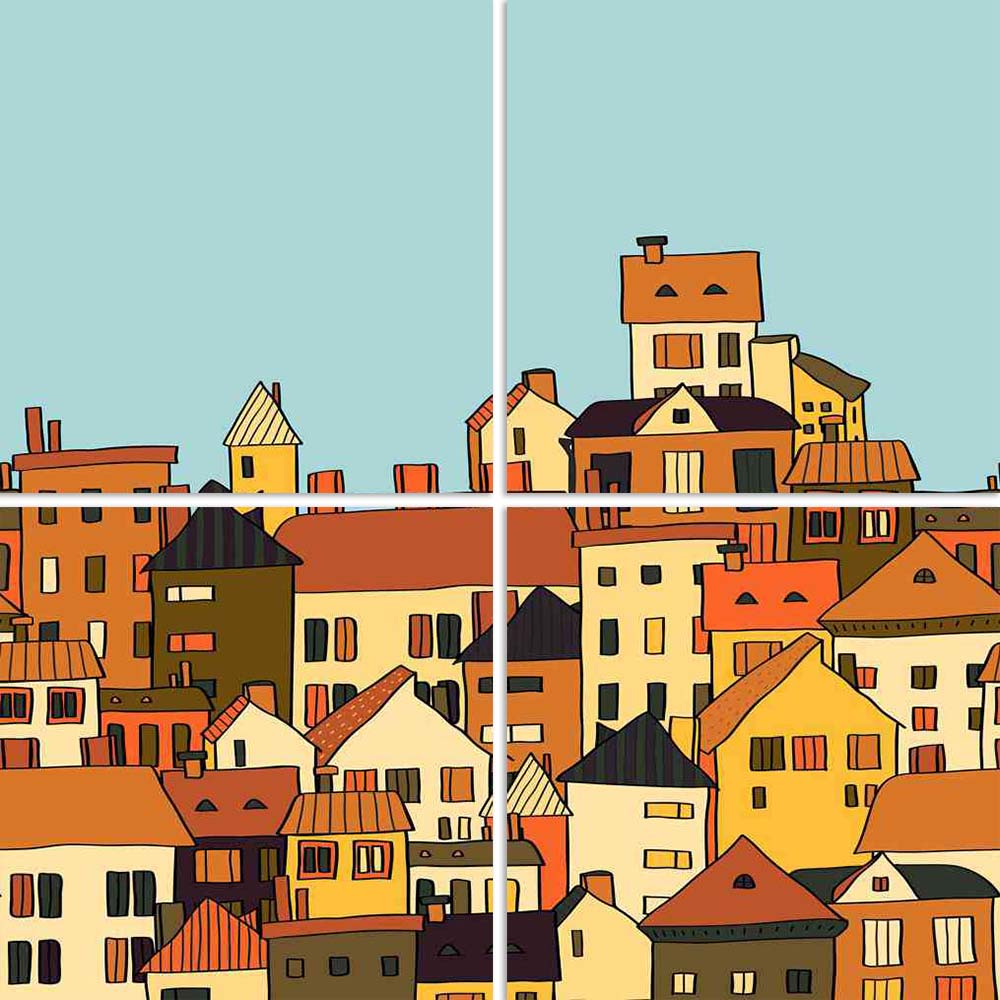 ArtzFolio Panorama Town In European Style Split Art Painting Panel on Sunboard-Split Art Panels-AZ5006016SPL_FR_RF_R-0-Image Code 5006016 Vishnu Image Folio Pvt Ltd, IC 5006016, ArtzFolio, Split Art Panels, Kids, Places, Digital Art, panorama, town, in, european, style, split, art, painting, panel, on, sunboard, framed, canvas, print, wall, for, living, room, with, frame, poster, pitaara, box, large, size, drawing, big, office, reception, photography, of, designer, decorative, amazonbasics, reprint, small,