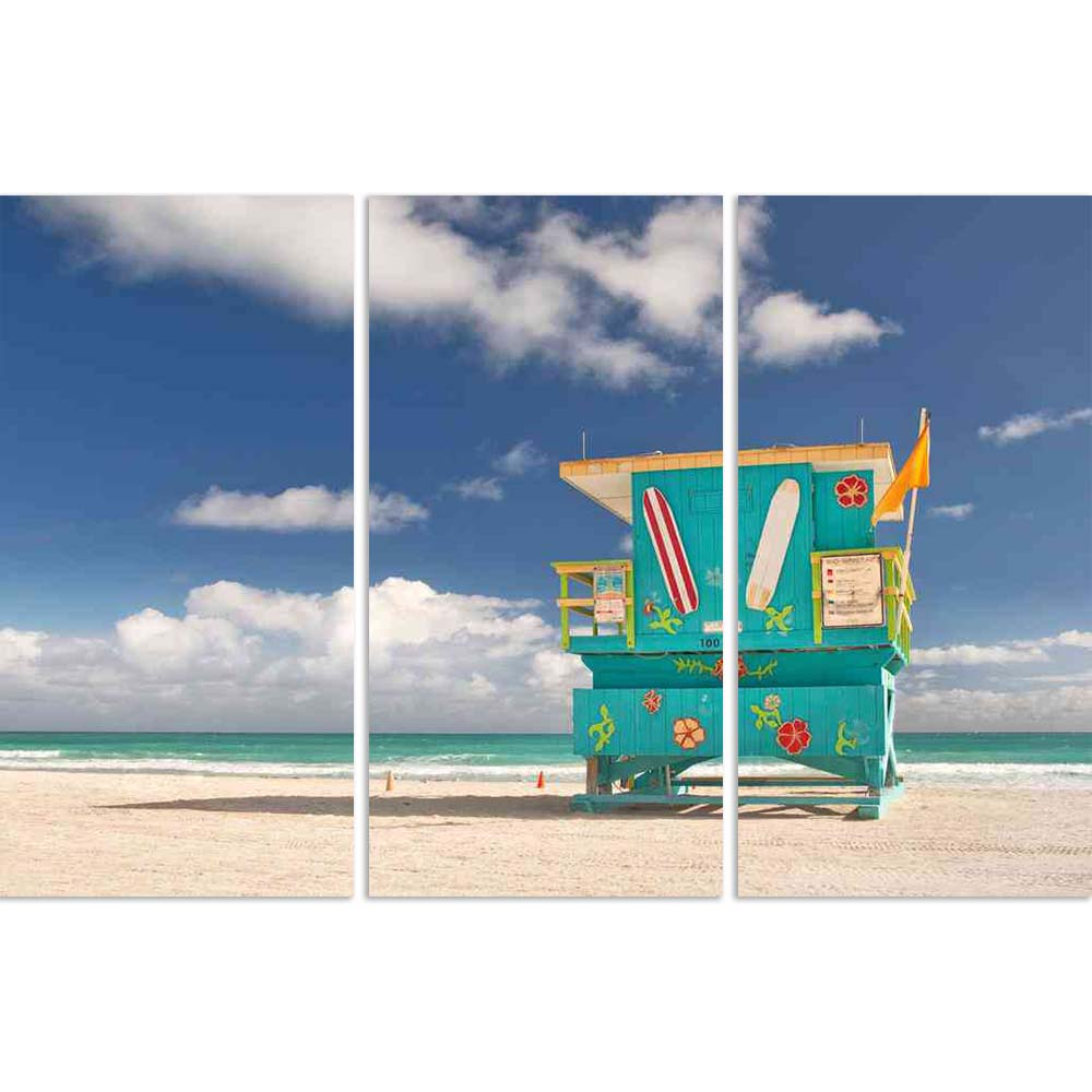 ArtzFolio Lifeguard House on Miami Beach Florida, USA D1 Split Art Painting Panel on Sunboard-Split Art Panels-AZ5006027SPL_FR_RF_R-0-Image Code 5006027 Vishnu Image Folio Pvt Ltd, IC 5006027, ArtzFolio, Split Art Panels, Landscapes, Places, Photography, lifeguard, house, on, miami, beach, florida, usa, d1, split, art, painting, panel, sunboard, framed, canvas, print, wall, for, living, room, with, frame, poster, pitaara, box, large, size, drawing, big, office, reception, of, kids, designer, decorative, ama