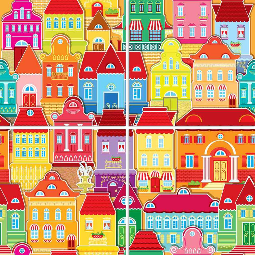ArtzFolio Decorative Colorful Houses in City Split Art Painting Panel on Sunboard-Split Art Panels-AZ5006045SPL_FR_RF_R-0-Image Code 5006045 Vishnu Image Folio Pvt Ltd, IC 5006045, ArtzFolio, Split Art Panels, Kids, Places, Digital Art, decorative, colorful, houses, in, city, split, art, painting, panel, on, sunboard, framed, canvas, print, wall, for, living, room, with, frame, poster, pitaara, box, large, size, drawing, big, office, reception, photography, of, designer, amazonbasics, reprint, small, bedroo
