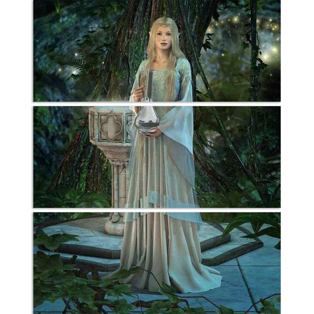 ArtzFolio Elven Princess With A Silver Carafe Split Art Painting Panel on Sunboard-Split Art Panels-AZ5006051SPL_FR_RF_R-0-Image Code 5006051 Vishnu Image Folio Pvt Ltd, IC 5006051, ArtzFolio, Split Art Panels, Fantasy, Figurative, Digital Art, elven, princess, with, a, silver, carafe, split, art, painting, panel, on, sunboard, framed, canvas, print, wall, for, living, room, frame, poster, pitaara, box, large, size, drawing, big, office, reception, photography, of, kids, designer, decorative, amazonbasics,