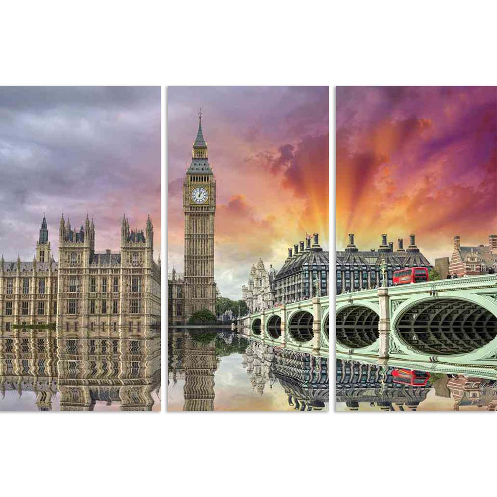 ArtzFolio Westminster Bridge, Houses of Parliament Thames, London Split Art Painting Panel on Sunboard-Split Art Panels-AZ5006083SPL_FR_RF_R-0-Image Code 5006083 Vishnu Image Folio Pvt Ltd, IC 5006083, ArtzFolio, Split Art Panels, Places, Photography, westminster, bridge, houses, of, parliament, thames, london, split, art, painting, panel, on, sunboard, framed, canvas, print, wall, for, living, room, with, frame, poster, pitaara, box, large, size, drawing, big, office, reception, kids, designer, decorative,