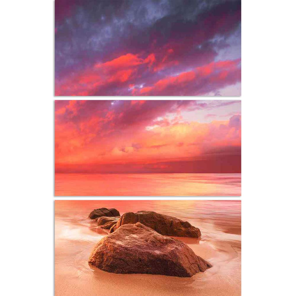 ArtzFolio Beautiful Tropical Scene At Sunset Split Art Painting Panel on Sunboard-Split Art Panels-AZ5006173SPL_FR_RF_R-0-Image Code 5006173 Vishnu Image Folio Pvt Ltd, IC 5006173, ArtzFolio, Split Art Panels, Landscapes, Photography, beautiful, tropical, scene, at, sunset, split, art, painting, panel, on, sunboard, framed, canvas, print, wall, for, living, room, with, frame, poster, pitaara, box, large, size, drawing, big, office, reception, of, kids, designer, decorative, amazonbasics, reprint, small, bed