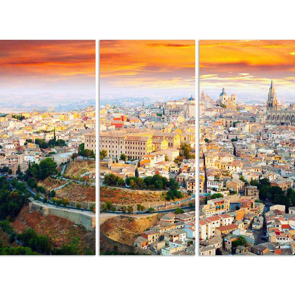 ArtzFolio Dawn View of Toledo, Castile La Mancha, Spain Split Art Painting Panel on Sunboard-Split Art Panels-AZ5006176SPL_FR_RF_R-0-Image Code 5006176 Vishnu Image Folio Pvt Ltd, IC 5006176, ArtzFolio, Split Art Panels, Places, Photography, dawn, view, of, toledo, castile, la, mancha, spain, split, art, painting, panel, on, sunboard, framed, canvas, print, wall, for, living, room, with, frame, poster, pitaara, box, large, size, drawing, big, office, reception, kids, designer, decorative, amazonbasics, repr