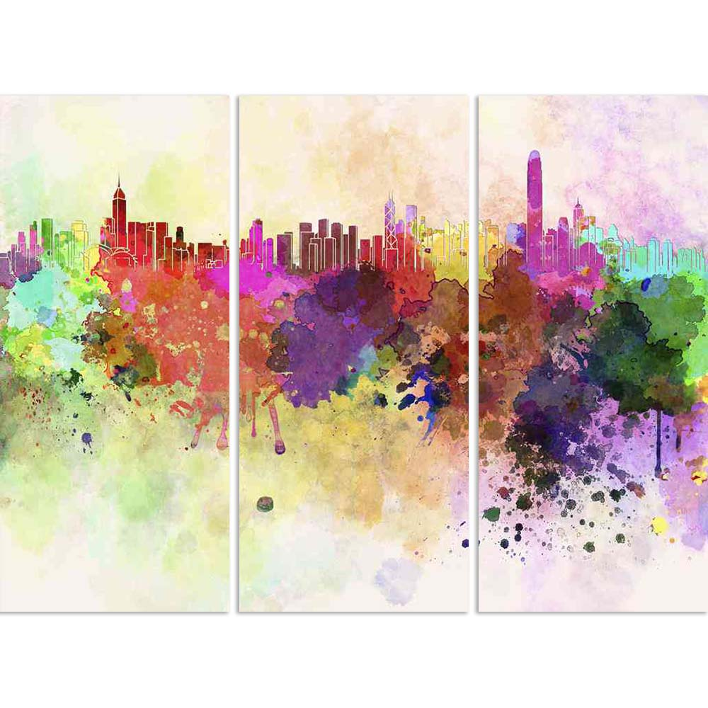 ArtzFolio Hong Kong Skyline In Watercolor Split Art Painting Panel on Sunboard-Split Art Panels-AZ5006192SPL_FR_RF_R-0-Image Code 5006192 Vishnu Image Folio Pvt Ltd, IC 5006192, ArtzFolio, Split Art Panels, Places, Fine Art Reprint, hong, kong, skyline, in, watercolor, split, art, painting, panel, on, sunboard, framed, canvas, print, wall, for, living, room, with, frame, poster, pitaara, box, large, size, drawing, big, office, reception, photography, of, kids, designer, decorative, amazonbasics, reprint, sm