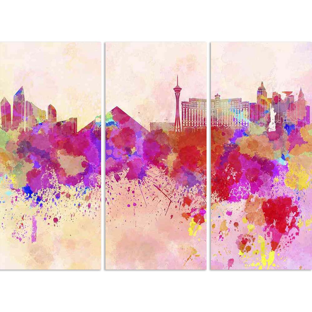 ArtzFolio Las Vegas, USA Skyline In Watercolor Background Split Art Painting Panel on Sunboard-Split Art Panels-AZ5006193SPL_FR_RF_R-0-Image Code 5006193 Vishnu Image Folio Pvt Ltd, IC 5006193, ArtzFolio, Split Art Panels, Places, Fine Art Reprint, las, vegas, usa, skyline, in, watercolor, background, split, art, painting, panel, on, sunboard, framed, canvas, print, wall, for, living, room, with, frame, poster, pitaara, box, large, size, drawing, big, office, reception, photography, of, kids, designer, deco