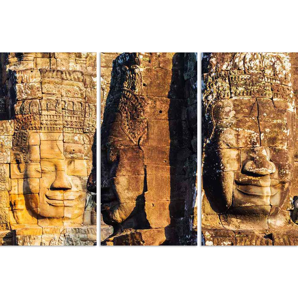 ArtzFolio Faces of King on Bayon Temple, Angkor Wat, Cambodia D2 Split Art Painting Panel on Sunboard-Split Art Panels-AZ5006197SPL_FR_RF_R-0-Image Code 5006197 Vishnu Image Folio Pvt Ltd, IC 5006197, ArtzFolio, Split Art Panels, Places, Religious, Photography, faces, of, king, on, bayon, temple, angkor, wat, cambodia, d2, split, art, painting, panel, sunboard, framed, canvas, print, wall, for, living, room, with, frame, poster, pitaara, box, large, size, drawing, big, office, reception, kids, designer, dec