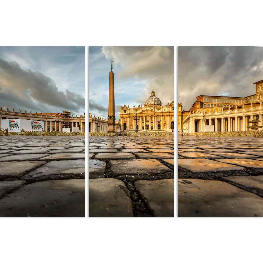 ArtzFolio St Peter Square Basilica in Vatican City, Rome Split Art Painting Panel on Sunboard-Split Art Panels-AZ5006199SPL_FR_RF_R-0-Image Code 5006199 Vishnu Image Folio Pvt Ltd, IC 5006199, ArtzFolio, Split Art Panels, Places, Photography, st, peter, square, basilica, in, vatican, city, rome, split, art, painting, panel, on, sunboard, framed, canvas, print, wall, for, living, room, with, frame, poster, pitaara, box, large, size, drawing, big, office, reception, of, kids, designer, decorative, amazonbasic