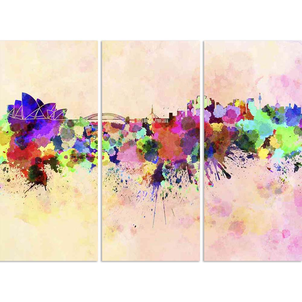 ArtzFolio Sydney, Australia Skyline In Watercolor Background Split Art Painting Panel on Sunboard-Split Art Panels-AZ5006204SPL_FR_RF_R-0-Image Code 5006204 Vishnu Image Folio Pvt Ltd, IC 5006204, ArtzFolio, Split Art Panels, Places, Fine Art Reprint, sydney, australia, skyline, in, watercolor, background, split, art, painting, panel, on, sunboard, framed, canvas, print, wall, for, living, room, with, frame, poster, pitaara, box, large, size, drawing, big, office, reception, photography, of, kids, designer,