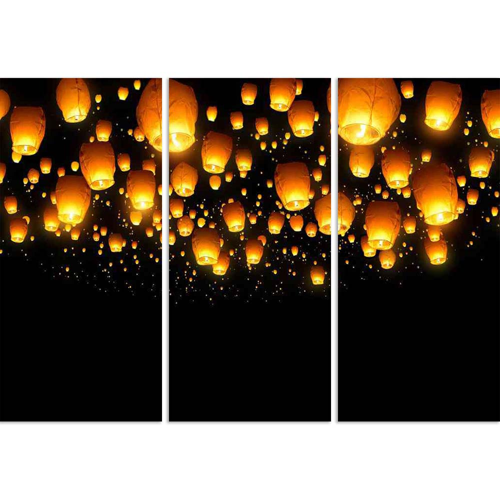 ArtzFolio Flying Lanterns Split Art Painting Panel on Sunboard-Split Art Panels-AZ5006231SPL_FR_RF_R-0-Image Code 5006231 Vishnu Image Folio Pvt Ltd, IC 5006231, ArtzFolio, Split Art Panels, Places, Photography, flying, lanterns, split, art, painting, panel, on, sunboard, framed, canvas, print, wall, for, living, room, with, frame, poster, pitaara, box, large, size, drawing, big, office, reception, of, kids, designer, decorative, amazonbasics, reprint, small, bedroom, scenery, chinese, lantern, floating, li