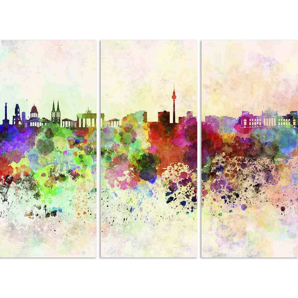 ArtzFolio Berlin, Capital of Germany, Skyline In Watercolor Split Art Painting Panel on Sunboard-Split Art Panels-AZ5006235SPL_FR_RF_R-0-Image Code 5006235 Vishnu Image Folio Pvt Ltd, IC 5006235, ArtzFolio, Split Art Panels, Places, Fine Art Reprint, berlin, capital, of, germany, skyline, in, watercolor, split, art, painting, panel, on, sunboard, framed, canvas, print, wall, for, living, room, with, frame, poster, pitaara, box, large, size, drawing, big, office, reception, photography, kids, designer, decor