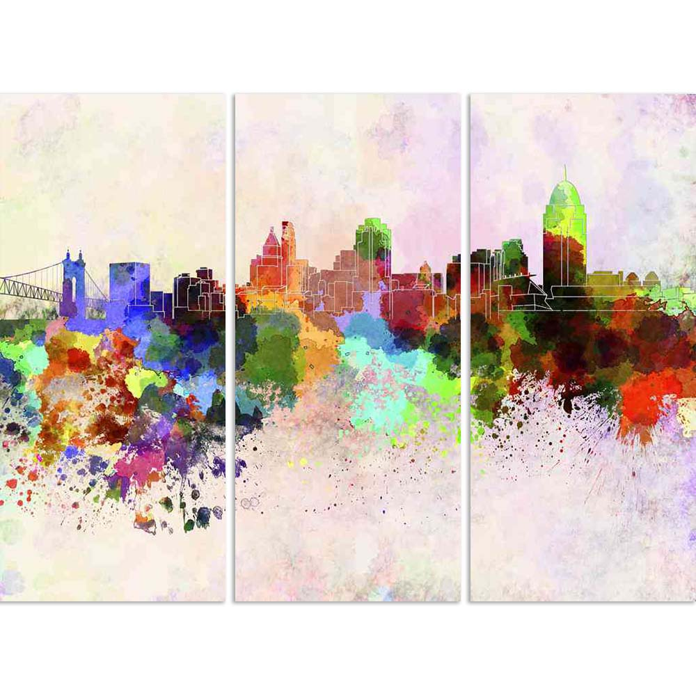 ArtzFolio Skyline of Cincinnati, US State of Ohio Split Art Painting Panel on Sunboard-Split Art Panels-AZ5006238SPL_FR_RF_R-0-Image Code 5006238 Vishnu Image Folio Pvt Ltd, IC 5006238, ArtzFolio, Split Art Panels, Places, Fine Art Reprint, skyline, of, cincinnati, us, state, ohio, split, art, painting, panel, on, sunboard, framed, canvas, print, wall, for, living, room, with, frame, poster, pitaara, box, large, size, drawing, big, office, reception, photography, kids, designer, decorative, amazonbasics, re