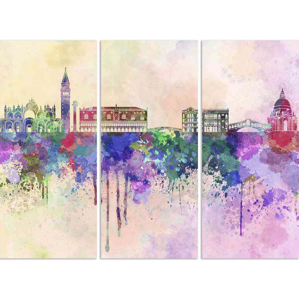 ArtzFolio Venice, Italy Skyline In Watercolor Split Art Painting Panel on Sunboard-Split Art Panels-AZ5006247SPL_FR_RF_R-0-Image Code 5006247 Vishnu Image Folio Pvt Ltd, IC 5006247, ArtzFolio, Split Art Panels, Places, Fine Art Reprint, venice, italy, skyline, in, watercolor, split, art, painting, panel, on, sunboard, framed, canvas, print, wall, for, living, room, with, frame, poster, pitaara, box, large, size, drawing, big, office, reception, photography, of, kids, designer, decorative, amazonbasics, repr