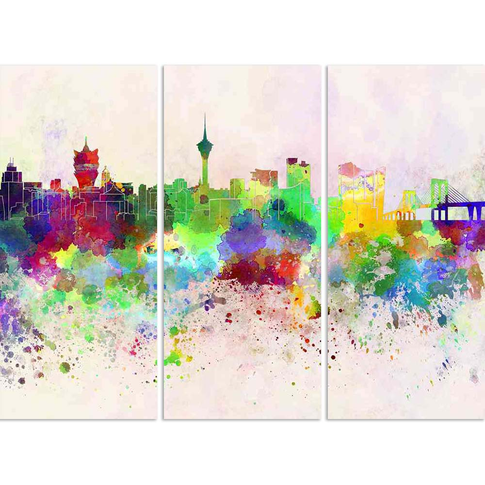 ArtzFolio Macau Skyline in Watercolor Split Art Painting Panel on Sunboard-Split Art Panels-AZ5006265SPL_FR_RF_R-0-Image Code 5006265 Vishnu Image Folio Pvt Ltd, IC 5006265, ArtzFolio, Split Art Panels, Places, Fine Art Reprint, macau, skyline, in, watercolor, split, art, painting, panel, on, sunboard, framed, canvas, print, wall, for, living, room, with, frame, poster, pitaara, box, large, size, drawing, big, office, reception, photography, of, kids, designer, decorative, amazonbasics, reprint, small, bedr
