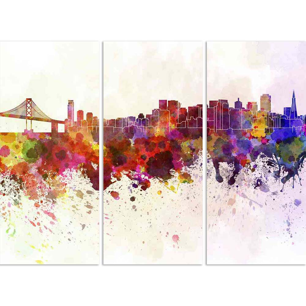 ArtzFolio San Francisco Skyline, Northern California, USA Split Art Painting Panel on Sunboard-Split Art Panels-AZ5006271SPL_FR_RF_R-0-Image Code 5006271 Vishnu Image Folio Pvt Ltd, IC 5006271, ArtzFolio, Split Art Panels, Places, Fine Art Reprint, san, francisco, skyline, northern, california, usa, split, art, painting, panel, on, sunboard, framed, canvas, print, wall, for, living, room, with, frame, poster, pitaara, box, large, size, drawing, big, office, reception, photography, of, kids, designer, decora