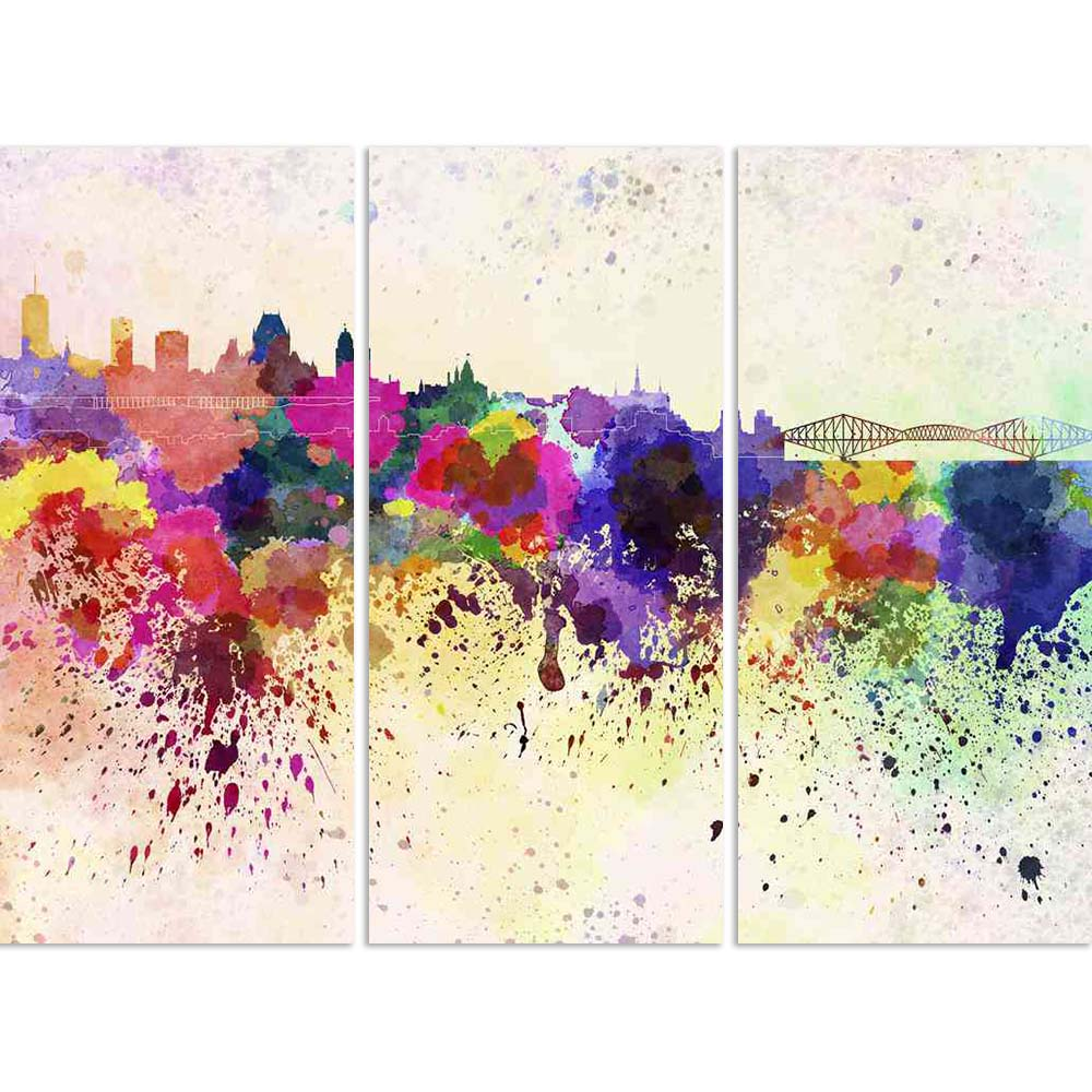 ArtzFolio Quebec, eastern Canada, Skyline in Watercolor Split Art Painting Panel on Sunboard-Split Art Panels-AZ5006281SPL_FR_RF_R-0-Image Code 5006281 Vishnu Image Folio Pvt Ltd, IC 5006281, ArtzFolio, Split Art Panels, Places, Fine Art Reprint, quebec, eastern, canada, skyline, in, watercolor, split, art, painting, panel, on, sunboard, framed, canvas, print, wall, for, living, room, with, frame, poster, pitaara, box, large, size, drawing, big, office, reception, photography, of, kids, designer, decorative