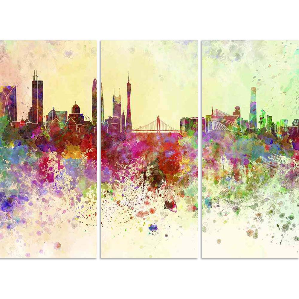 ArtzFolio Guangzhou, China, Skyline in Watercolor Split Art Painting Panel on Sunboard-Split Art Panels-AZ5006282SPL_FR_RF_R-0-Image Code 5006282 Vishnu Image Folio Pvt Ltd, IC 5006282, ArtzFolio, Split Art Panels, Places, Fine Art Reprint, guangzhou, china, skyline, in, watercolor, split, art, painting, panel, on, sunboard, framed, canvas, print, wall, for, living, room, with, frame, poster, pitaara, box, large, size, drawing, big, office, reception, photography, of, kids, designer, decorative, amazonbasic