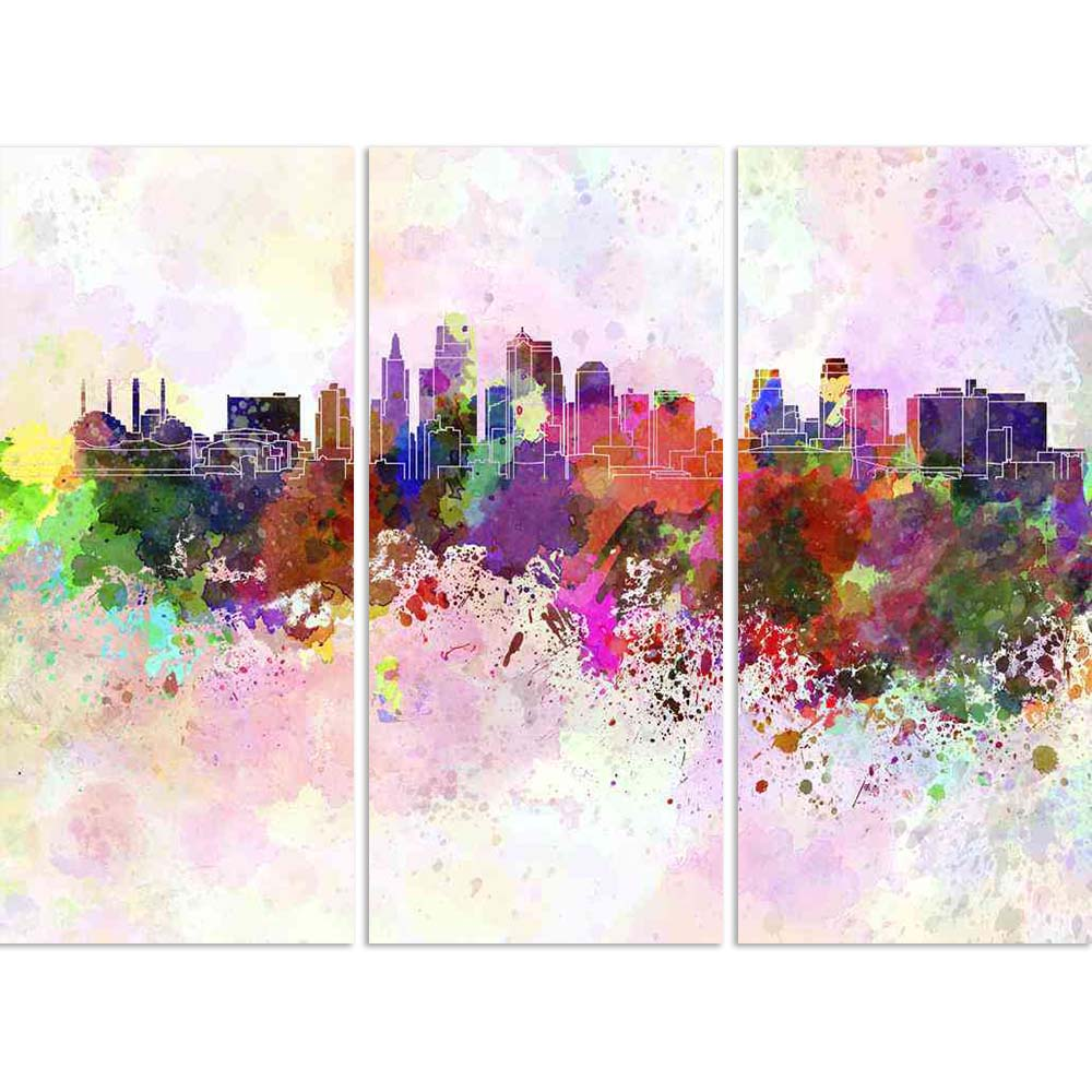 ArtzFolio Skyline of Kansas City, City in Missouri, USA Split Art Painting Panel on Sunboard-Split Art Panels-AZ5006288SPL_FR_RF_R-0-Image Code 5006288 Vishnu Image Folio Pvt Ltd, IC 5006288, ArtzFolio, Split Art Panels, Places, Fine Art Reprint, skyline, of, kansas, city, in, missouri, usa, split, art, painting, panel, on, sunboard, framed, canvas, print, wall, for, living, room, with, frame, poster, pitaara, box, large, size, drawing, big, office, reception, photography, kids, designer, decorative, amazon