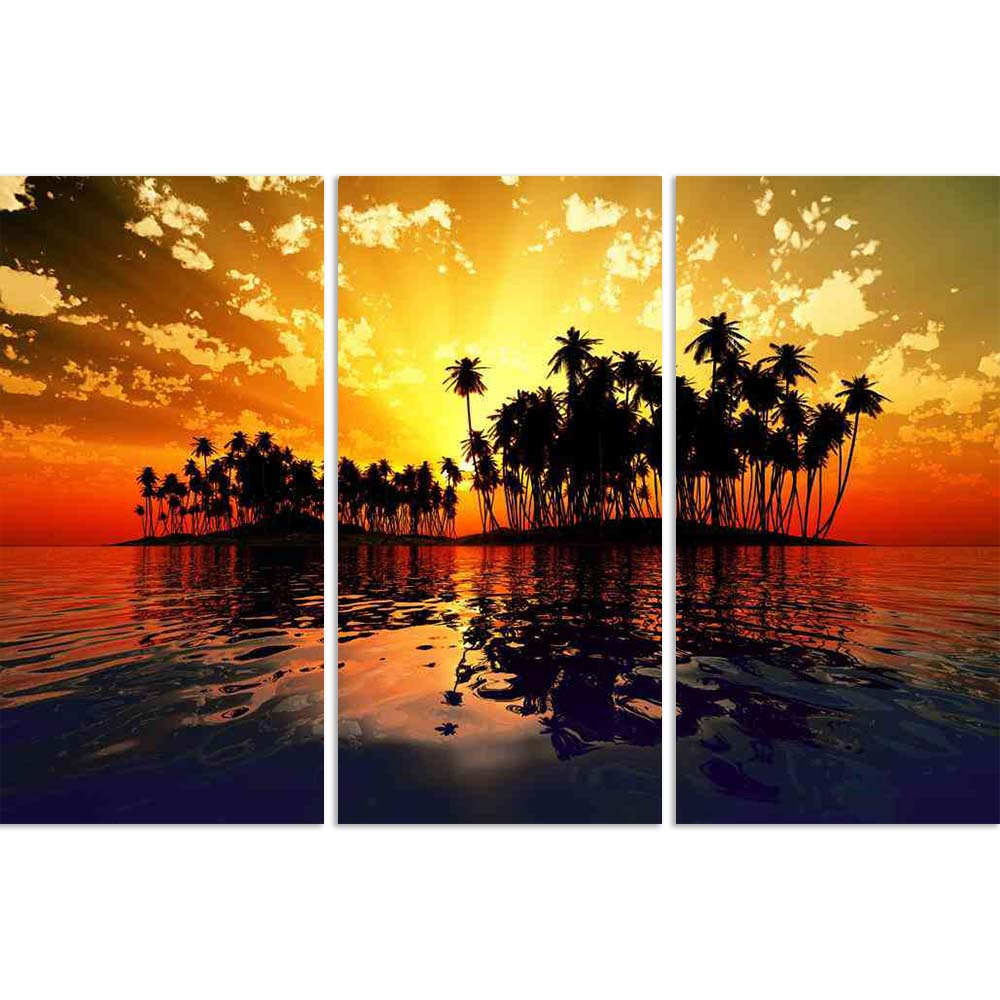 ArtzFolio Sun Rays Inside Coconut Island Split Art Painting Panel on Sunboard-Split Art Panels-AZ5006343SPL_FR_RF_R-0-Image Code 5006343 Vishnu Image Folio Pvt Ltd, IC 5006343, ArtzFolio, Split Art Panels, Landscapes, Photography, sun, rays, inside, coconut, island, split, art, painting, panel, on, sunboard, framed, canvas, print, wall, for, living, room, with, frame, poster, pitaara, box, large, size, drawing, big, office, reception, of, kids, designer, decorative, amazonbasics, reprint, small, bedroom, sc