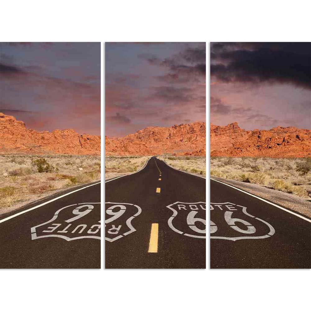 ArtzFolio Route 66 Pavement Sign in a Desert Rock Mountain Split Art Painting Panel on Sunboard-Split Art Panels-AZ5006349SPL_FR_RF_R-0-Image Code 5006349 Vishnu Image Folio Pvt Ltd, IC 5006349, ArtzFolio, Split Art Panels, Landscapes, Places, Photography, route, 66, pavement, sign, in, a, desert, rock, mountain, split, art, painting, panel, on, sunboard, framed, canvas, print, wall, for, living, room, with, frame, poster, pitaara, box, large, size, drawing, big, office, reception, of, kids, designer, decor