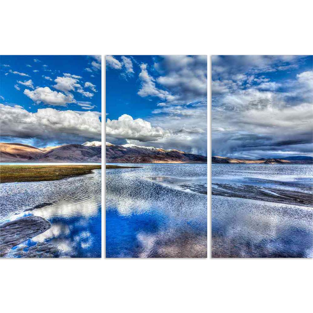 ArtzFolio Himalayan Mountain Lake in Ladakh, India Split Art Painting Panel on Sunboard-Split Art Panels-AZ5006356SPL_FR_RF_R-0-Image Code 5006356 Vishnu Image Folio Pvt Ltd, IC 5006356, ArtzFolio, Split Art Panels, Landscapes, Places, Photography, himalayan, mountain, lake, in, ladakh, india, split, art, painting, panel, on, sunboard, framed, canvas, print, wall, for, living, room, with, frame, poster, pitaara, box, large, size, drawing, big, office, reception, of, kids, designer, decorative, amazonbasics,