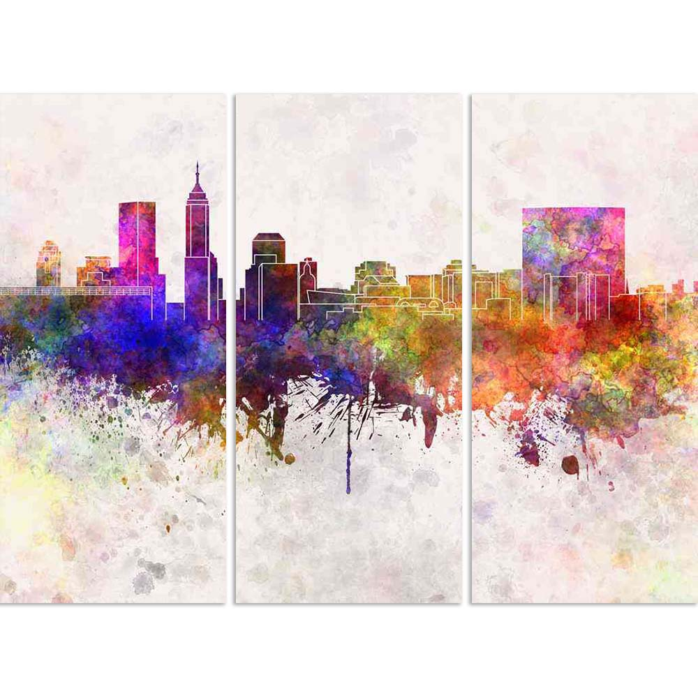 ArtzFolio Indianapolis, USA, Skyline in Watercolor Split Art Painting Panel on Sunboard-Split Art Panels-AZ5006357SPL_FR_RF_R-0-Image Code 5006357 Vishnu Image Folio Pvt Ltd, IC 5006357, ArtzFolio, Split Art Panels, Places, Fine Art Reprint, indianapolis, usa, skyline, in, watercolor, split, art, painting, panel, on, sunboard, framed, canvas, print, wall, for, living, room, with, frame, poster, pitaara, box, large, size, drawing, big, office, reception, photography, of, kids, designer, decorative, amazonbas
