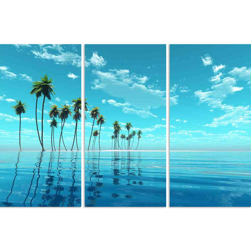ArtzFolio Coconut Island At Turquoise Tropic Sea Split Art Painting Panel on Sunboard-Split Art Panels-AZ5006365SPL_FR_RF_R-0-Image Code 5006365 Vishnu Image Folio Pvt Ltd, IC 5006365, ArtzFolio, Split Art Panels, Landscapes, Photography, coconut, island, at, turquoise, tropic, sea, split, art, painting, panel, on, sunboard, framed, canvas, print, wall, for, living, room, with, frame, poster, pitaara, box, large, size, drawing, big, office, reception, of, kids, designer, decorative, amazonbasics, reprint, s