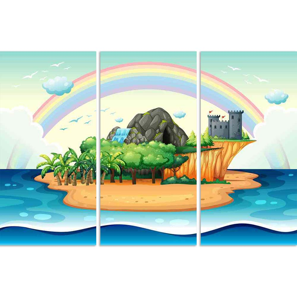 ArtzFolio Desert Island Split Art Painting Panel on Sunboard-Split Art Panels-AZ5006374SPL_FR_RF_R-0-Image Code 5006374 Vishnu Image Folio Pvt Ltd, IC 5006374, ArtzFolio, Split Art Panels, Kids, Landscapes, Digital Art, desert, island, split, art, painting, panel, on, sunboard, framed, canvas, print, wall, for, living, room, with, frame, poster, pitaara, box, large, size, drawing, big, office, reception, photography, of, designer, decorative, amazonbasics, reprint, small, bedroom, scenery, illustration, pai