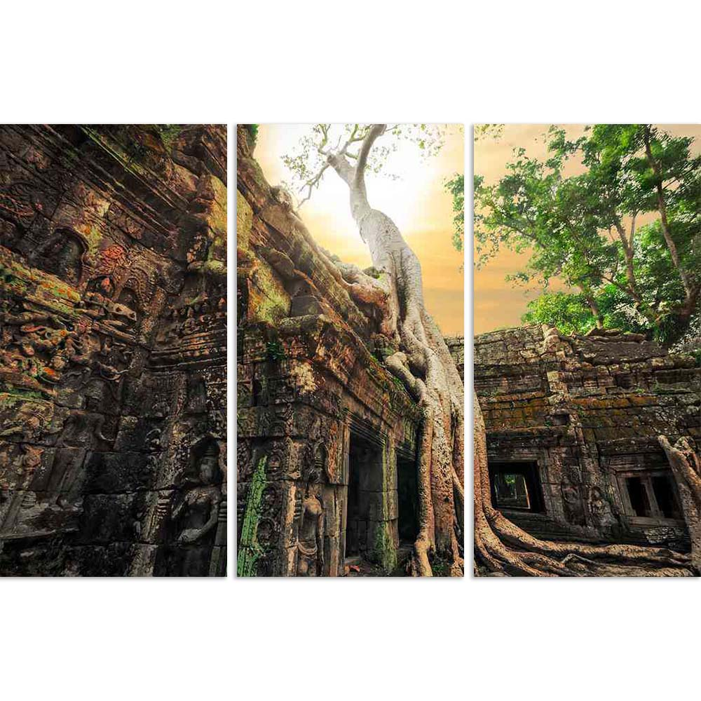 ArtzFolio Ancient Ta Prohm Temple, Angkor Wat, Cambodia Split Art Painting Panel on Sunboard-Split Art Panels-AZ5006398SPL_FR_RF_R-0-Image Code 5006398 Vishnu Image Folio Pvt Ltd, IC 5006398, ArtzFolio, Split Art Panels, Places, Religious, Photography, ancient, ta, prohm, temple, angkor, wat, cambodia, split, art, painting, panel, on, sunboard, framed, canvas, print, wall, for, living, room, with, frame, poster, pitaara, box, large, size, drawing, big, office, reception, of, kids, designer, decorative, amaz