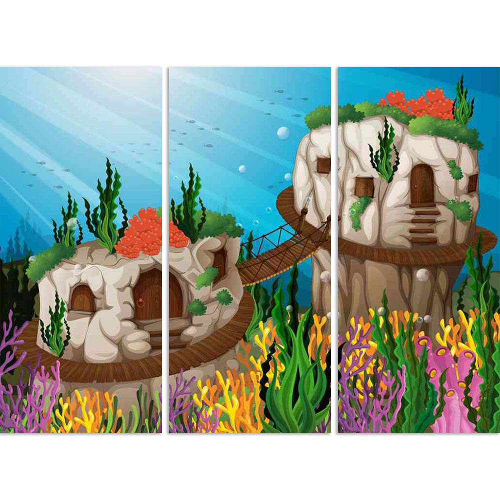 ArtzFolio Two Caves Underwater Split Art Painting Panel on Sunboard-Split Art Panels-AZ5006399SPL_FR_RF_R-0-Image Code 5006399 Vishnu Image Folio Pvt Ltd, IC 5006399, ArtzFolio, Split Art Panels, Kids, Landscapes, Digital Art, two, caves, underwater, split, art, painting, panel, on, sunboard, framed, canvas, print, wall, for, living, room, with, frame, poster, pitaara, box, large, size, drawing, big, office, reception, photography, of, designer, decorative, amazonbasics, reprint, small, bedroom, scenery, il