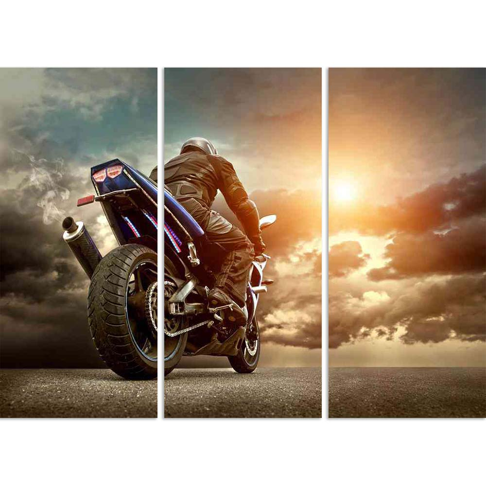 ArtzFolio Man Seat On The Motorcycle Under Sky With Clouds D2 Split Art Painting Panel on Sunboard-Split Art Panels-AZ5006403SPL_FR_RF_R-0-Image Code 5006403 Vishnu Image Folio Pvt Ltd, IC 5006403, ArtzFolio, Split Art Panels, Automobiles, Photography, man, seat, on, the, motorcycle, under, sky, with, clouds, d2, split, art, painting, panel, sunboard, framed, canvas, print, wall, for, living, room, frame, poster, pitaara, box, large, size, drawing, big, office, reception, of, kids, designer, decorative, ama