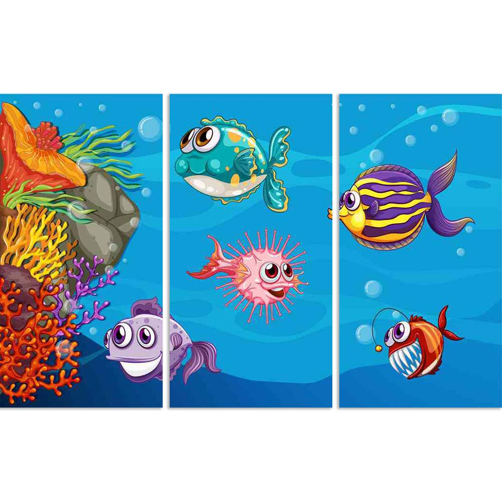 ArtzFolio Fish Swimming Underwater D2 Split Art Painting Panel on Sunboard-Split Art Panels-AZ5006422SPL_FR_RF_R-0-Image Code 5006422 Vishnu Image Folio Pvt Ltd, IC 5006422, ArtzFolio, Split Art Panels, Animals, Kids, Digital Art, fish, swimming, underwater, d2, split, art, painting, panel, on, sunboard, framed, canvas, print, wall, for, living, room, with, frame, poster, pitaara, box, large, size, drawing, big, office, reception, photography, of, designer, decorative, amazonbasics, reprint, small, bedroom,
