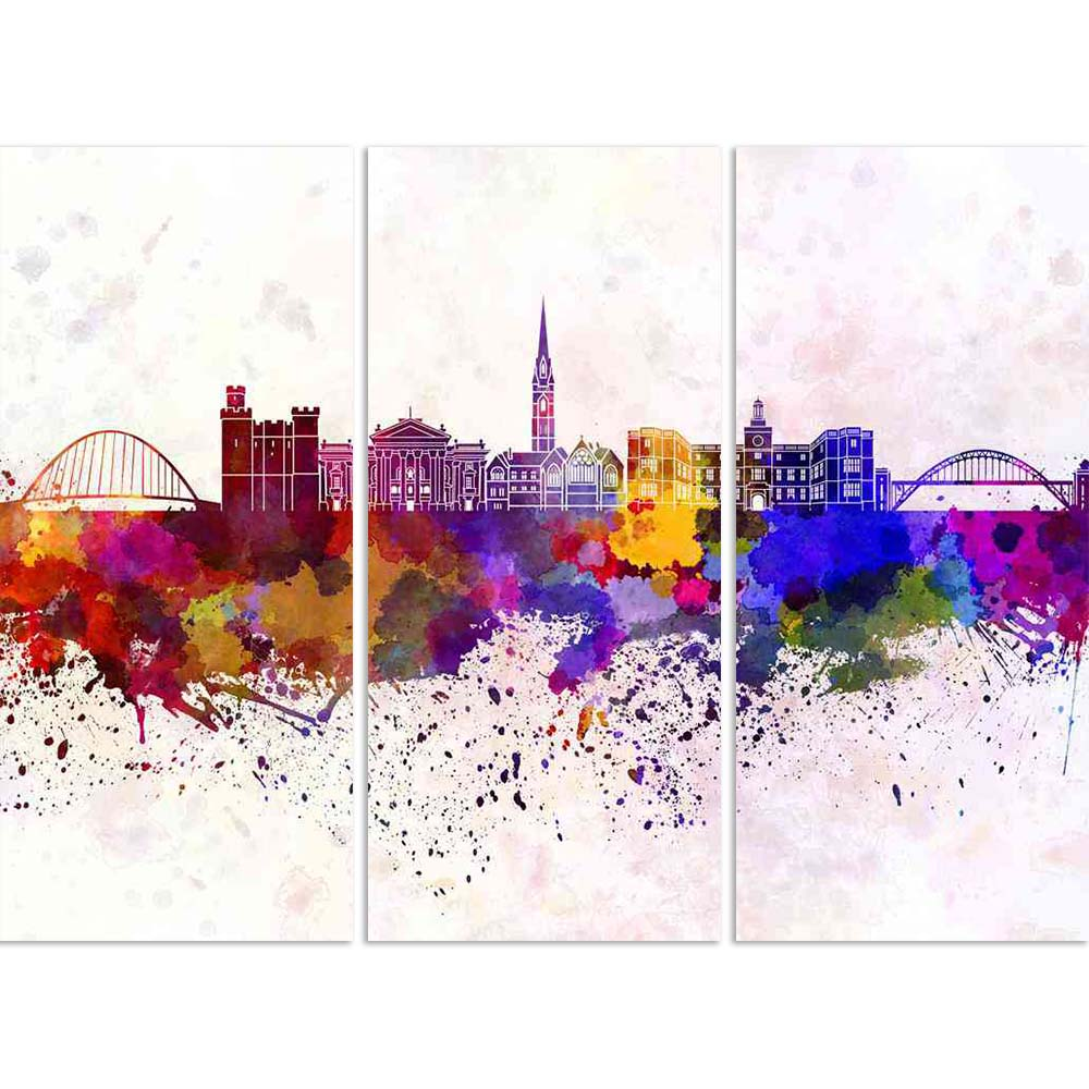 ArtzFolio Skyline of Newcastle upon Tyne, Northeast England Split Art Painting Panel on Sunboard-Split Art Panels-AZ5006436SPL_FR_RF_R-0-Image Code 5006436 Vishnu Image Folio Pvt Ltd, IC 5006436, ArtzFolio, Split Art Panels, Places, Fine Art Reprint, skyline, of, newcastle, upon, tyne, northeast, england, split, art, painting, panel, on, sunboard, framed, canvas, print, wall, for, living, room, with, frame, poster, pitaara, box, large, size, drawing, big, office, reception, photography, kids, designer, deco