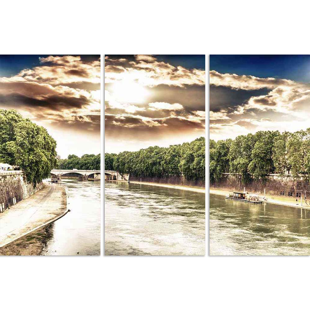 ArtzFolio The Tiber River In Rome, Italy D2 Split Art Painting Panel on Sunboard-Split Art Panels-AZ5006488SPL_FR_RF_R-0-Image Code 5006488 Vishnu Image Folio Pvt Ltd, IC 5006488, ArtzFolio, Split Art Panels, Landscapes, Places, Photography, the, tiber, river, in, rome, italy, d2, split, art, painting, panel, on, sunboard, framed, canvas, print, wall, for, living, room, with, frame, poster, pitaara, box, large, size, drawing, big, office, reception, of, kids, designer, decorative, amazonbasics, reprint, sma