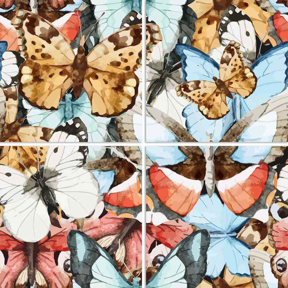 ArtzFolio Beautiful Watercolor Butterfly Pattern Split Art Painting Panel on Sunboard-Split Art Panels-AZ5006535SPL_FR_RF_R-0-Image Code 5006535 Vishnu Image Folio Pvt Ltd, IC 5006535, ArtzFolio, Split Art Panels, Birds, Floral, Fine Art Reprint, beautiful, watercolor, butterfly, pattern, split, art, painting, panel, on, sunboard, framed, canvas, print, wall, for, living, room, with, frame, poster, pitaara, box, large, size, drawing, big, office, reception, photography, of, kids, designer, decorative, amazo