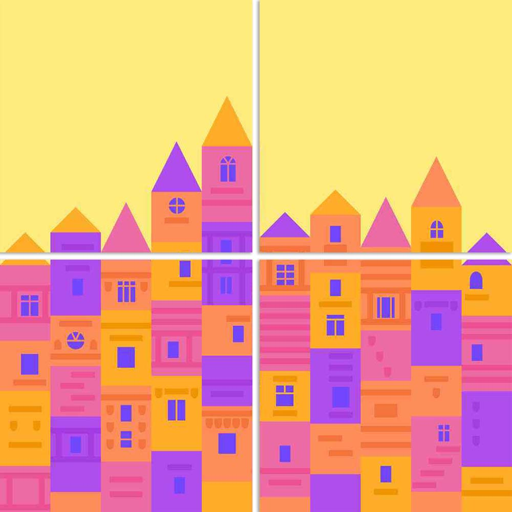 ArtzFolio Colorful Medieval Town From Building Blocks Split Art Painting Panel on Sunboard-Split Art Panels-AZ5006551SPL_FR_RF_R-0-Image Code 5006551 Vishnu Image Folio Pvt Ltd, IC 5006551, ArtzFolio, Split Art Panels, Kids, Places, Digital Art, colorful, medieval, town, from, building, blocks, split, art, painting, panel, on, sunboard, framed, canvas, print, wall, for, living, room, with, frame, poster, pitaara, box, large, size, drawing, big, office, reception, photography, of, designer, decorative, amazo