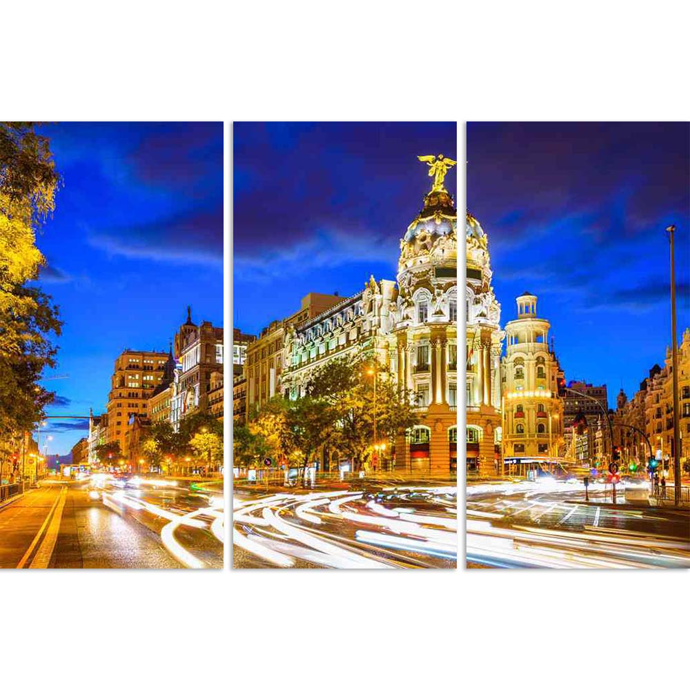 ArtzFolio Madrid Cityscape at Calle De Alcala Gran Via, Spain Split Art Painting Panel on Sunboard-Split Art Panels-AZ5006556SPL_FR_RF_R-0-Image Code 5006556 Vishnu Image Folio Pvt Ltd, IC 5006556, ArtzFolio, Split Art Panels, Places, Photography, madrid, cityscape, at, calle, de, alcala, gran, via, spain, split, art, painting, panel, on, sunboard, framed, canvas, print, wall, for, living, room, with, frame, poster, pitaara, box, large, size, drawing, big, office, reception, of, kids, designer, decorative,
