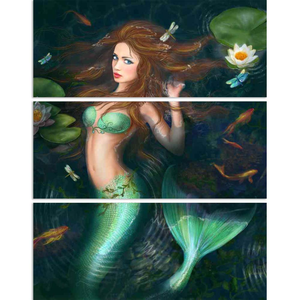 ArtzFolio Beautiful Fantasy Mermaid In Lake With Lillies Split Art Painting Panel on Sunboard-Split Art Panels-AZ5006591SPL_FR_RF_R-0-Image Code 5006591 Vishnu Image Folio Pvt Ltd, IC 5006591, ArtzFolio, Split Art Panels, Fantasy, Figurative, Digital Art, beautiful, mermaid, in, lake, with, lillies, split, art, painting, panel, on, sunboard, framed, canvas, print, wall, for, living, room, frame, poster, pitaara, box, large, size, drawing, big, office, reception, photography, of, kids, designer, decorative,