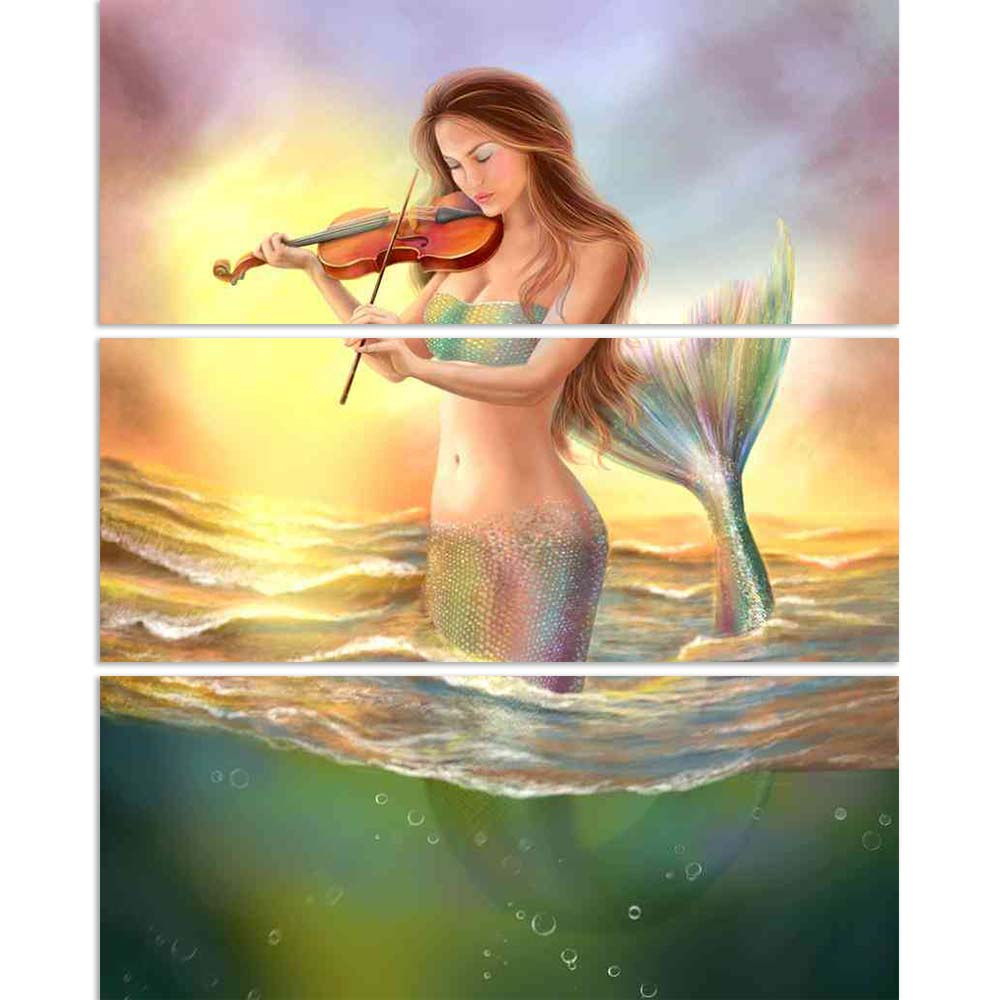 ArtzFolio Fantasy Mermaid Plays on Violin Split Art Painting Panel on Sunboard-Split Art Panels-AZ5006595SPL_FR_RF_R-0-Image Code 5006595 Vishnu Image Folio Pvt Ltd, IC 5006595, ArtzFolio, Split Art Panels, Fantasy, Figurative, Digital Art, mermaid, plays, on, violin, split, art, painting, panel, sunboard, framed, canvas, print, wall, for, living, room, with, frame, poster, pitaara, box, large, size, drawing, big, office, reception, photography, of, kids, designer, decorative, amazonbasics, reprint, small,