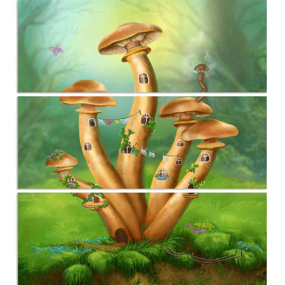 ArtzFolio Fantasy Mushrooms House on a Colorful Meadow Split Art Painting Panel on Sunboard-Split Art Panels-AZ5006596SPL_FR_RF_R-0-Image Code 5006596 Vishnu Image Folio Pvt Ltd, IC 5006596, ArtzFolio, Split Art Panels, Conceptual, Kids, Digital Art, fantasy, mushrooms, house, on, a, colorful, meadow, split, art, painting, panel, sunboard, framed, canvas, print, wall, for, living, room, with, frame, poster, pitaara, box, large, size, drawing, big, office, reception, photography, of, designer, decorative, am
