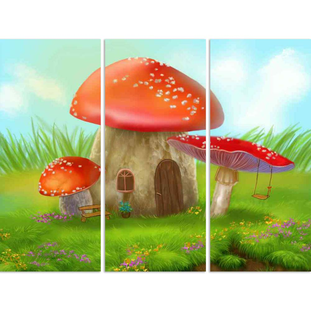 ArtzFolio Fantasy Mushroom Cottage on a Colorful Meadow D2 Split Art Painting Panel on Sunboard-Split Art Panels-AZ5006598SPL_FR_RF_R-0-Image Code 5006598 Vishnu Image Folio Pvt Ltd, IC 5006598, ArtzFolio, Split Art Panels, Kids, Landscapes, Digital Art, fantasy, mushroom, cottage, on, a, colorful, meadow, d2, split, art, painting, panel, sunboard, framed, canvas, print, wall, for, living, room, with, frame, poster, pitaara, box, large, size, drawing, big, office, reception, photography, of, designer, decor