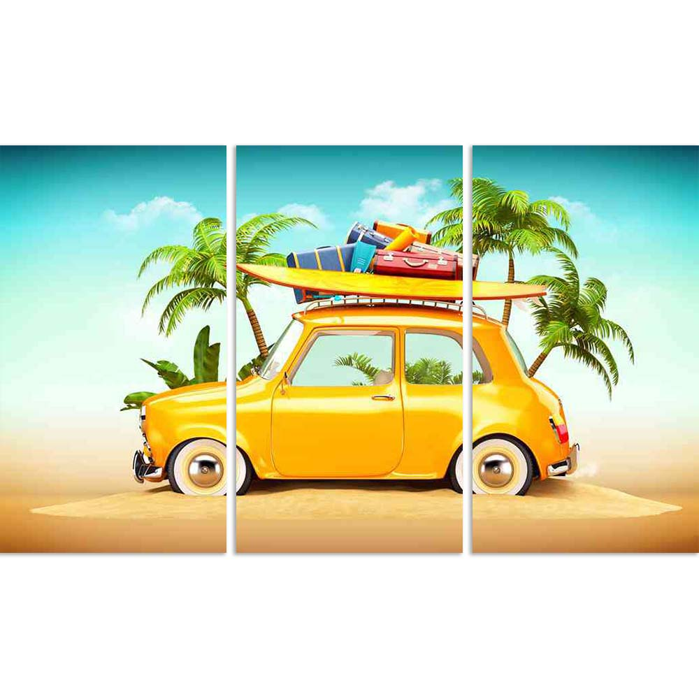 ArtzFolio Retro Car With Surfboard Suitcases On A Beach Split Art Painting Panel on Sunboard-Split Art Panels-AZ5006600SPL_FR_RF_R-0-Image Code 5006600 Vishnu Image Folio Pvt Ltd, IC 5006600, ArtzFolio, Split Art Panels, Automobiles, Kids, Digital Art, retro, car, with, surfboard, suitcases, on, a, beach, split, art, painting, panel, sunboard, framed, canvas, print, wall, for, living, room, frame, poster, pitaara, box, large, size, drawing, big, office, reception, photography, of, designer, decorative, amaz
