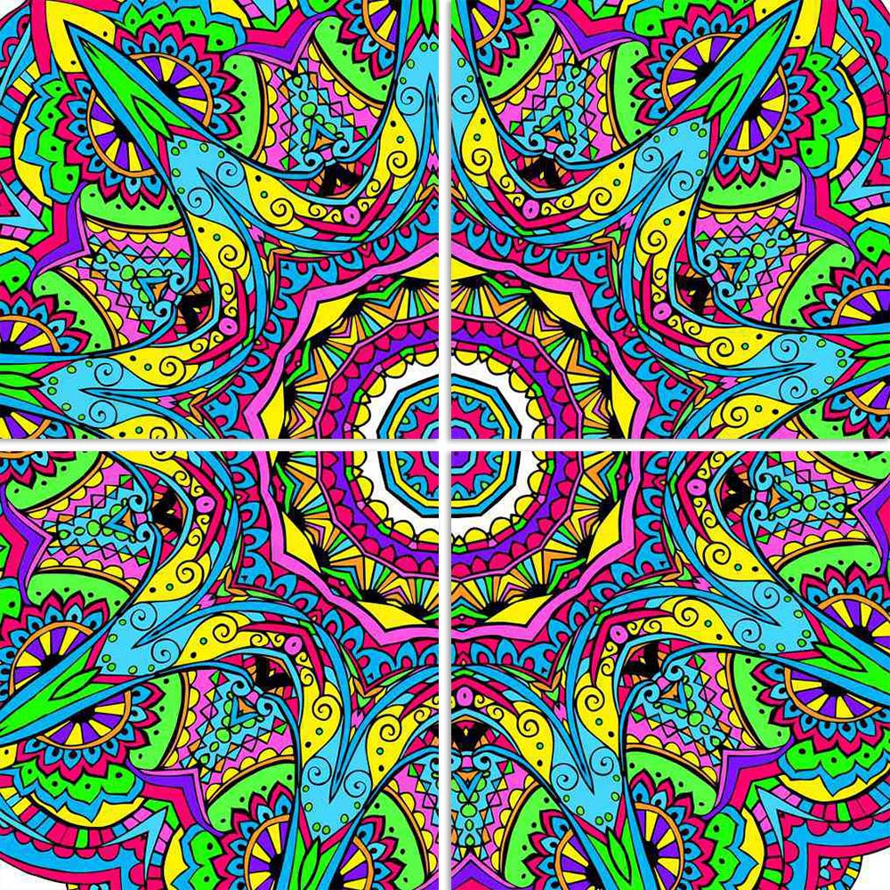 ArtzFolio Abstract Psychedelic Traditional Motif Element D2 Split Art Painting Panel on Sunboard-Split Art Panels-AZ5006611SPL_FR_RF_R-0-Image Code 5006611 Vishnu Image Folio Pvt Ltd, IC 5006611, ArtzFolio, Split Art Panels, Abstract, Traditional, Digital Art, psychedelic, motif, element, d2, split, art, painting, panel, on, sunboard, framed, canvas, print, wall, for, living, room, with, frame, poster, pitaara, box, large, size, drawing, big, office, reception, photography, of, kids, designer, decorative, a