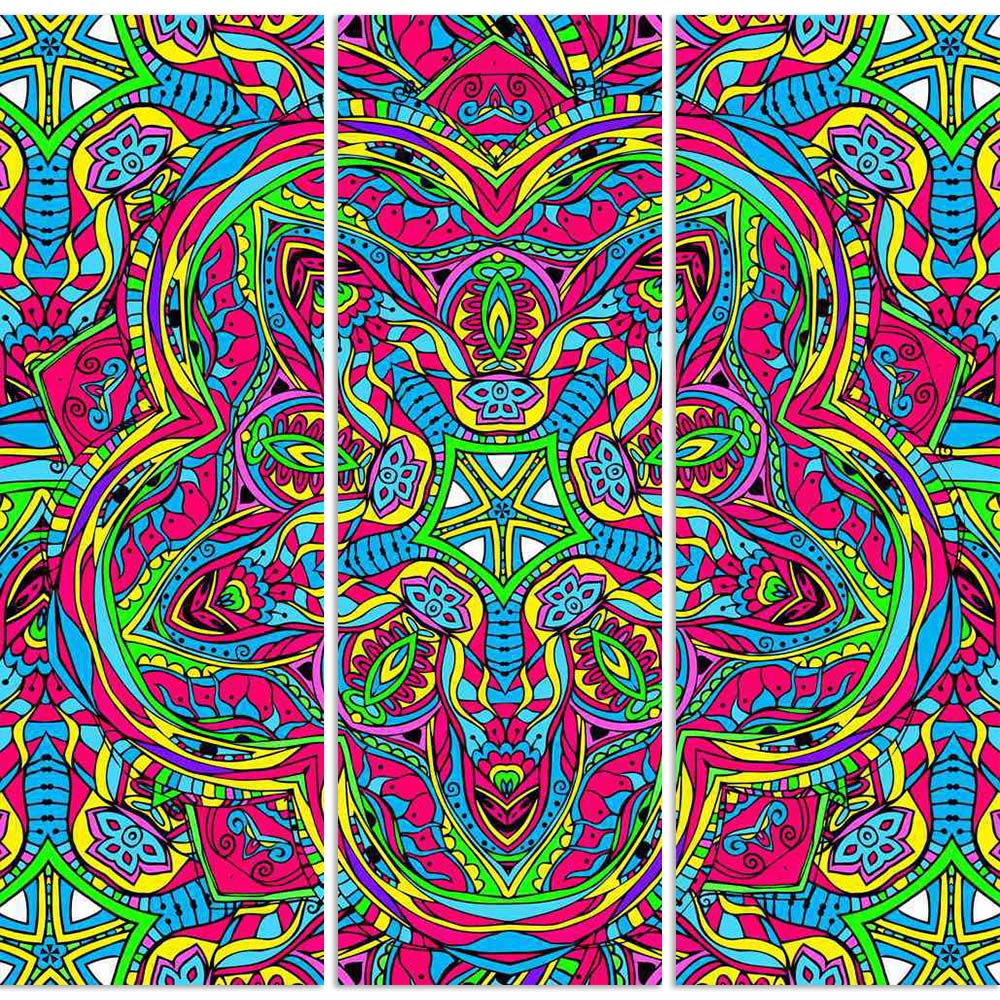 ArtzFolio Abstract Psychedelic Traditional Motif Element D3 Split Art Painting Panel on Sunboard-Split Art Panels-AZ5006612SPL_FR_RF_R-0-Image Code 5006612 Vishnu Image Folio Pvt Ltd, IC 5006612, ArtzFolio, Split Art Panels, Abstract, Traditional, Digital Art, psychedelic, motif, element, d3, split, art, painting, panel, on, sunboard, framed, canvas, print, wall, for, living, room, with, frame, poster, pitaara, box, large, size, drawing, big, office, reception, photography, of, kids, designer, decorative, a